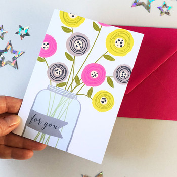 Flower Vase Thank You Cards by Wink Design