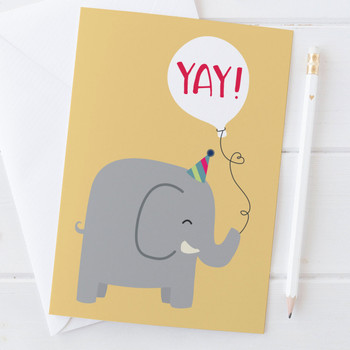 Elephant 'Yay!' Card