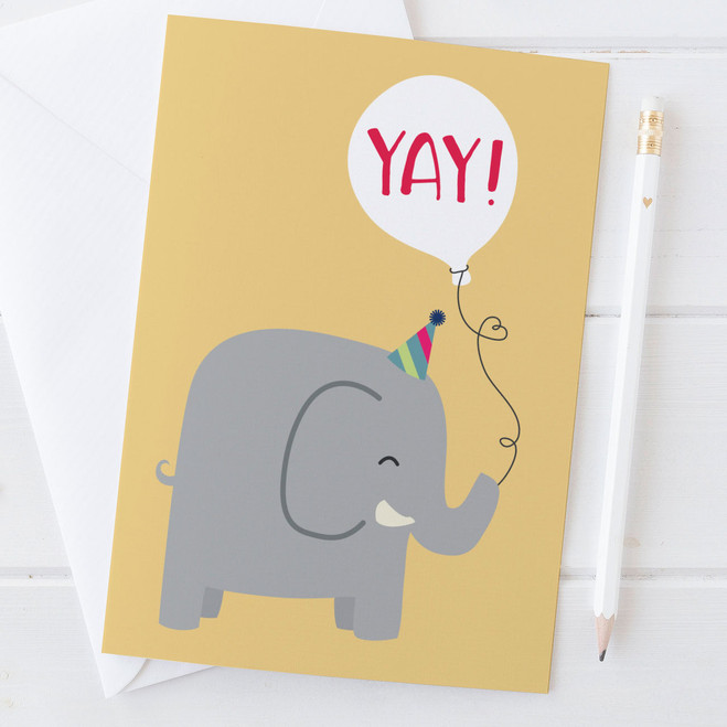 Elephant 'Yay!' Card