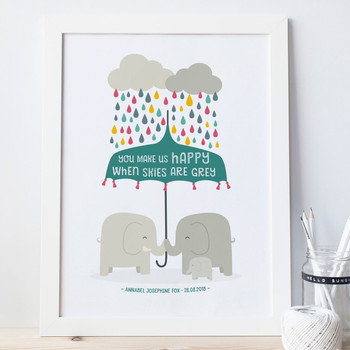 You Make Us Happy - Baby Nursery Print