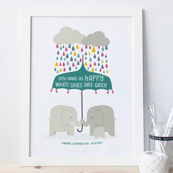 You Make Us Happy - Baby Nursery Print