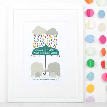 Twins Nursery Print - You make Us Happy