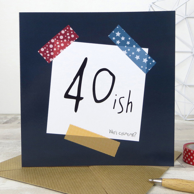 40ish - Funny 40th Birthday Card