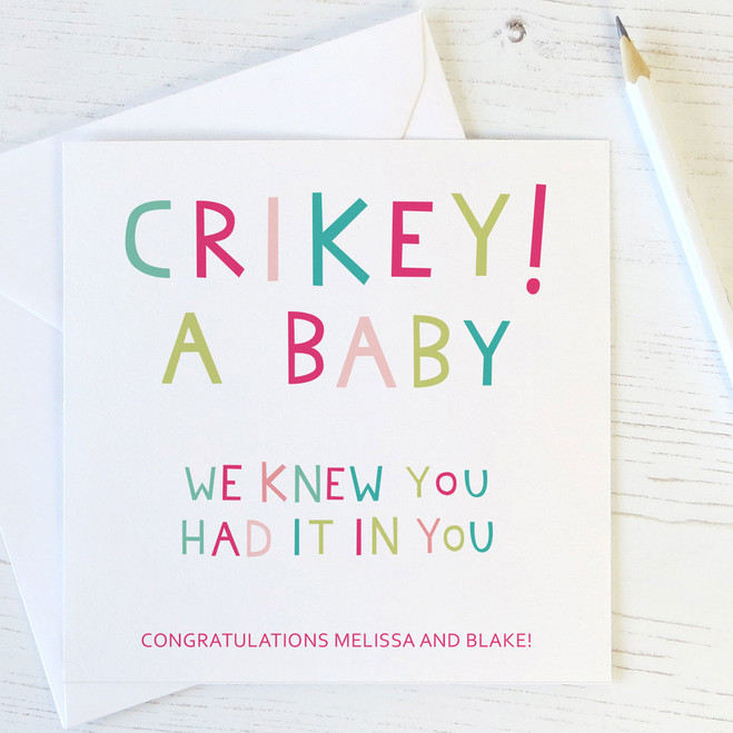 Funny New Baby Congratulations Cards