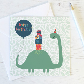 Dinosaur Birthday Card for Children