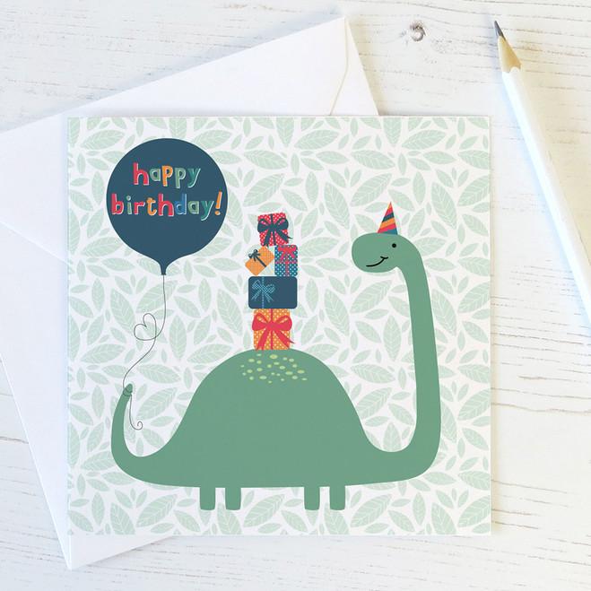 Dinosaur Birthday Card for Children