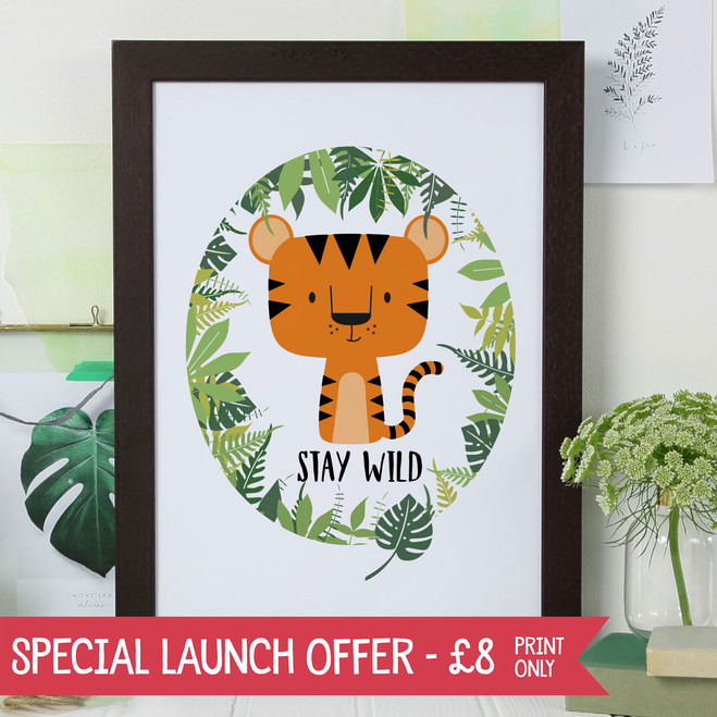 Stay Wild - Tiger Print for Children