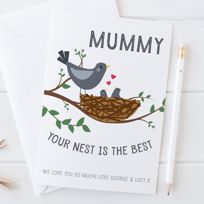 Your Nest Is The Best - Personalised Card for Mum