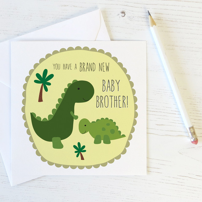New Baby Brother Card for Big Brothers by Wink Design