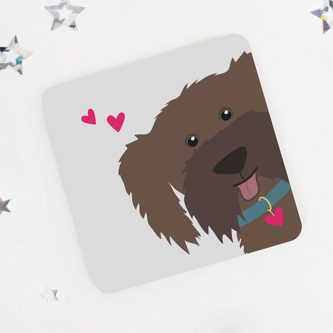 Cute Brown Dog Coaster for Dog Lovers