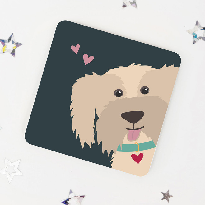 Cute Cream Dog Coaster for Dog Lovers