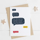 Funny 'Dad! Dad! Dad!' Speech Bubble Card for Fathers Day or Birthday by Wink Design