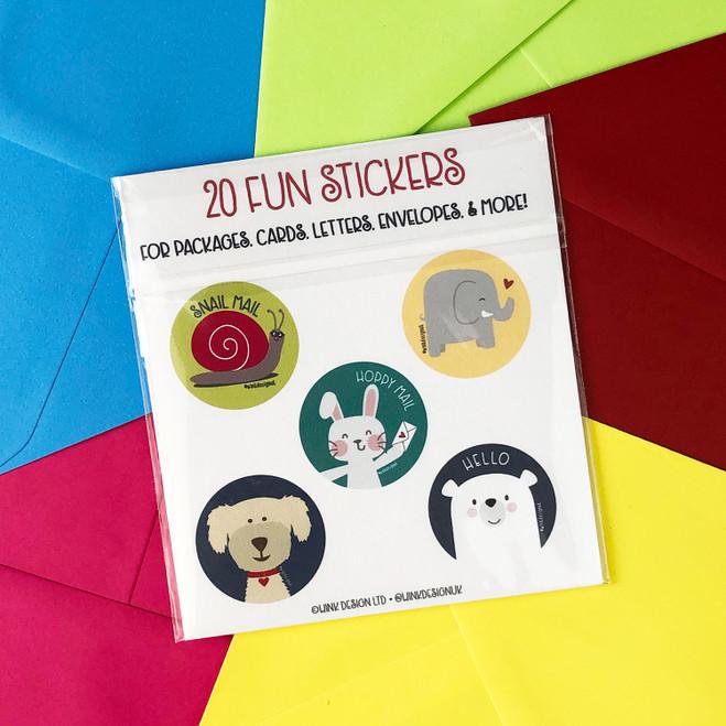 Sticker Pack - 20 Fun Stickers by Wink Design