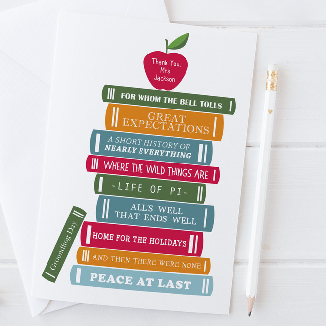 Funny Thank You Card for Teacher by Wink Design