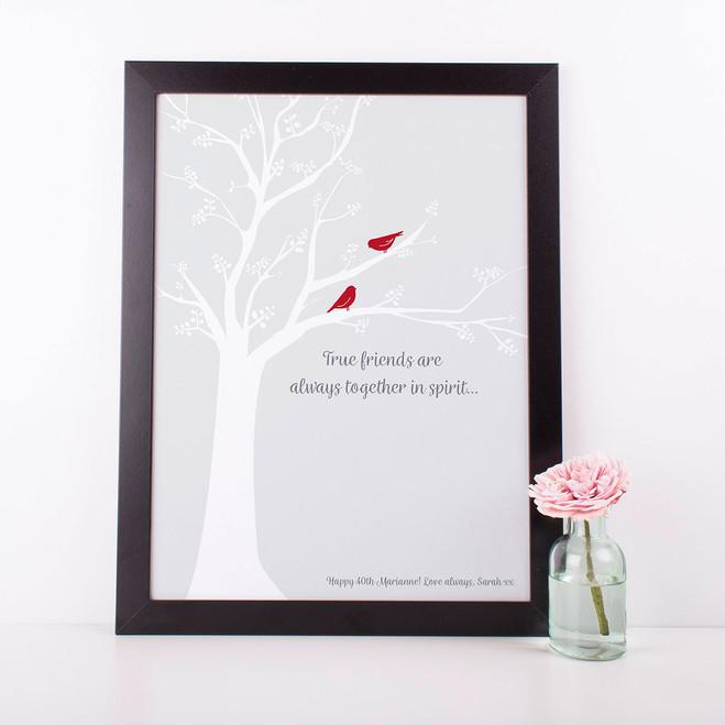 Wink Design True Friends Print  - Personalised