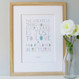 Personalised 'Love And Be Loved In Return' Print - white - framed
