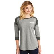 New Era® Heritage Blend 3/4 Sleeve Baseball Raglan Tee Shirt