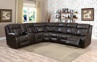 Hudson brown sectional