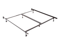 QN/KG BED FRAME WITH CROSS SUPPORT AND ROLLERS