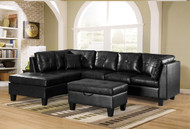 Townsend PU Sectional Black
