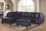 Townsend PU Sectional Brown