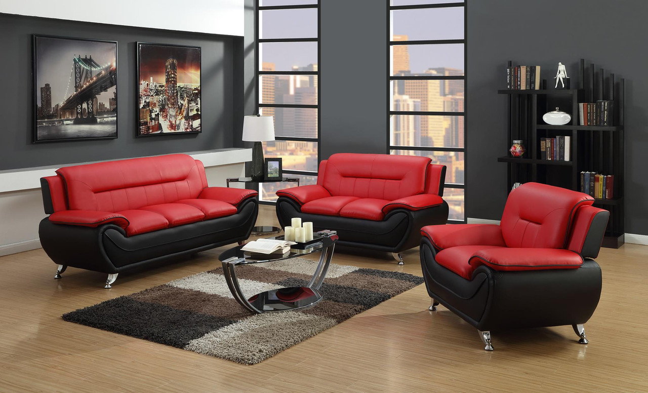 Metro Living Room Red and Black - Generation Trade