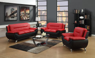 Metro Living Room Red and Black