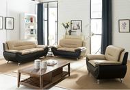 Metro Living Room Brown and Beige