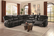 Emerson black sectional