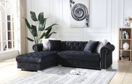 Perla Black Sectional