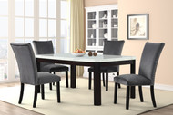 SAPPHIRE DINING TABLE W/ GREY DINING CHAIRS