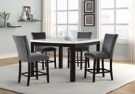 SAPPHIRE PUB TABLE w/ GREY STOOLS