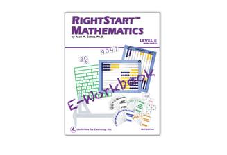RightStart™ Mathematics Level E Worksheets E-Book