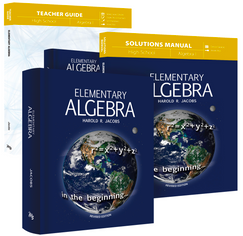 Jacob's Elementary Algebra (Curriculum Pack)