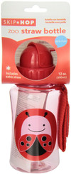 Skiphop Zoo Straw Flip Bottle - Ladybug 12 oz