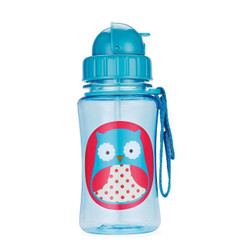 Skiphop Zoo Straw Flip Bottle - Owl