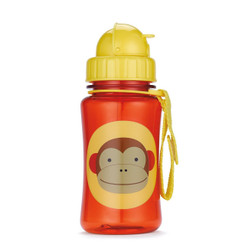 Skiphop Zoo Straw Flip Bottle - Monkey 12 oz