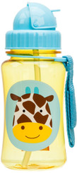 Skiphop Zoo Straw Flip Bottle - Giraffe 12 oz
