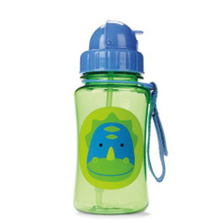 Skiphop Zoo Straw Flip Bottle - Dinosaur 12 oz