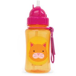 Skip Hop Zoo Straw Bottle, Cat, 12 Months Plus