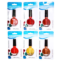 ARTMATIC/MEGA BRILLIANCE NAIL POLISH 72 PCS ASSORTED COLORS 0.29 OZ EA (8.5 ML)