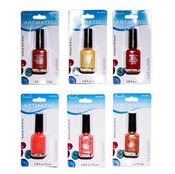 ARTMATIC/MEGA RADIANT NAIL POLISH 72 PCS. ASSORTED COLORS 0.46 OZ  EA (13.5 ML)
