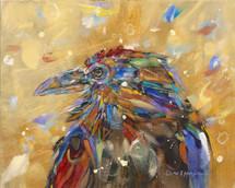 Raven-Ruffle-Bird-Painting