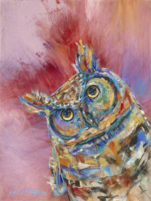 Says Who? Owl Painting- Sold out