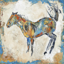 Horses - Oil and Wax - Blue Buck
