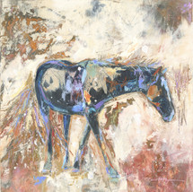 Horses - Oil and Wax - Snow Flurries Late Spring