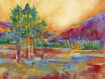 Elk Meadow Sunrise - Original Painting