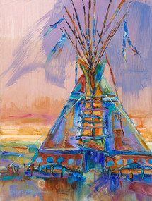 Downpour tipi original painting