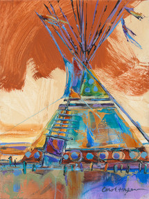 Hot Summer Wind tipi painting