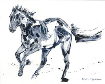El Camino horse painting